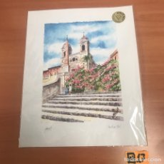 Arte: ANTIGUA ACUARELA FIRMADA. Lote 184664765