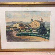 Arte: ACUARELA FIRMADA POR ANTONI SIVILLÀ. Lote 184692452