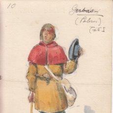 Art: ORIGINAL ARTISTICO DIBUJO PARA PERSONAJE OBRA DE TEATRO. Lote 184735591