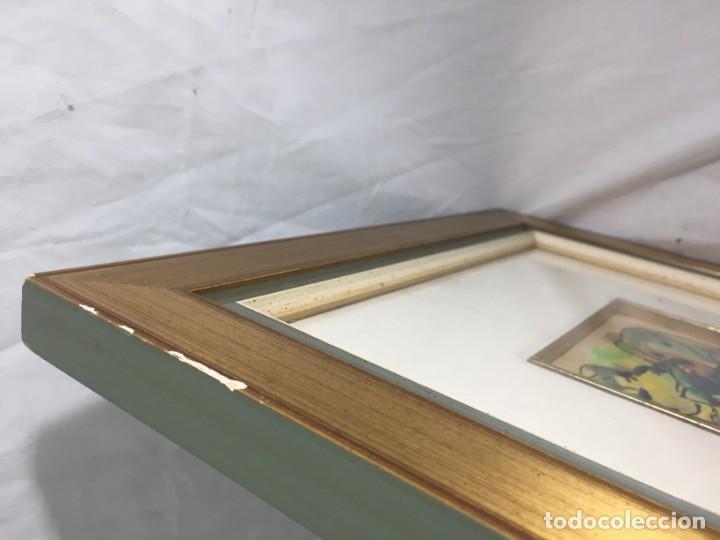 Arte: Francisco Mateos. Lote de tres dibujos en tinta y acuarelas enmarcados de manera profesional 78 x 33 - Foto 10 - 184866302