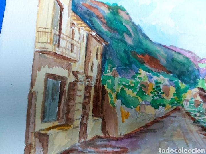 Arte: ACUARELA J. CARDONA AÑOS 40 - Foto 3 - 184868082