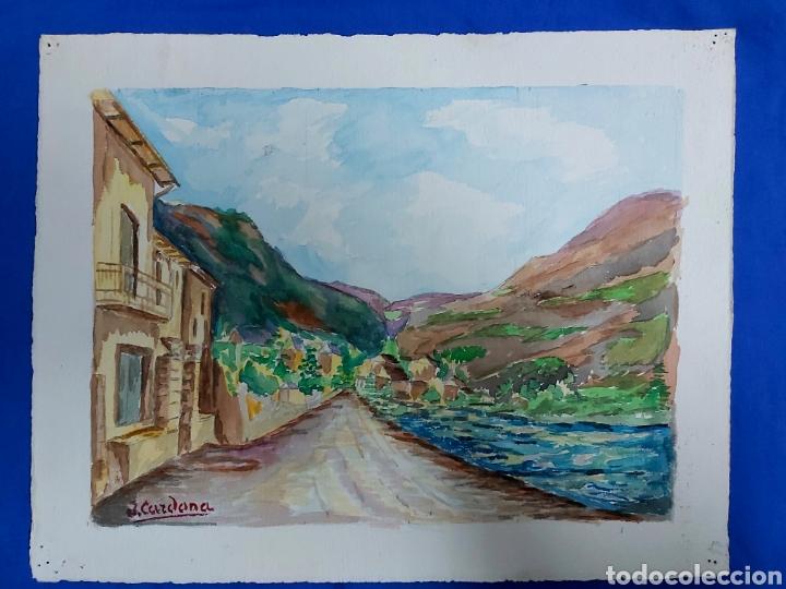 Arte: ACUARELA J. CARDONA AÑOS 40 - Foto 4 - 184868082