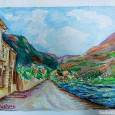 Arte: ACUARELA J. CARDONA AÑOS 40. Lote 184868082