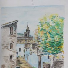 Arte: ACUARELA J. CARDONA AÑOS 40. Lote 184868983