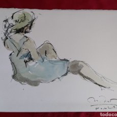 Arte: PRECIOSA ACUARELA FIRMA ILEGIBLE. Lote 185699736