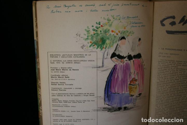 Arte: COLL BARDOLET, DIBUJO EN LA PRIMERA PAGINA DEL LIBRO, DEDICADO Y FIRMADO, VALLDEMOSA 1977. - Foto 5 - 184522153