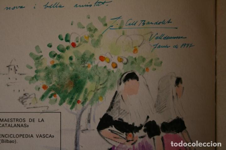 Arte: COLL BARDOLET, DIBUJO EN LA PRIMERA PAGINA DEL LIBRO, DEDICADO Y FIRMADO, VALLDEMOSA 1977. - Foto 6 - 184522153