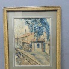 Arte: ACUARELA FIRMADA POR M GIRO. Lote 185788768