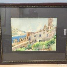 Arte: ACUARELA FIRMADA POR LLUIS ROIG ENSEÑAT. Lote 185789213