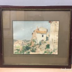 Arte: ACUARELA FIRMADA POR LLUIS ROIG ENSEÑAT. Lote 185789480