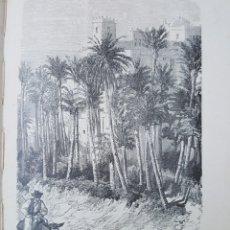 Arte: GRABADO 1896. ELCHE. ALICANTE. PALMERAL. ORIGINAL. PROCEDE DEL CALLEJA. 22 X 14 CM. Lote 186105720