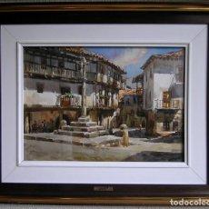 Arte: ACUARELA DIBUJO AYNETO GORRIZ JOSE 1926 OBRA LA ALBERCA. Lote 186199273