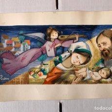 Art: (VENDIDO) PRUDEN, PRUDENCIA ANTÓN - BELÉN. DIBUJO ORIGINAL FIRMADO. Lote 186244231