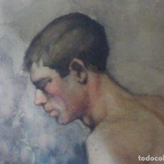 Arte: BONITA ACUARELA AÑO 1891.FIRMADA GIJON. Lote 186352928