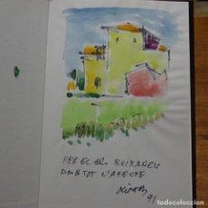 Arte: ACUARELA DE 1991 DE MARIÁN OLIVERAS EN LIBRO MONOGRAFIA DE DOMENEC MOLÍ.1990. Lote 187466315