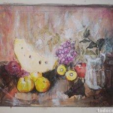 Arte: ACUARELA BODEGÓN DE FRUTAS FIRMADO Y FECHADO 19 X 15. Lote 188671728