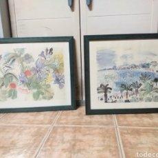 Art: LOTE DE DOS CUADROS. Lote 189145882