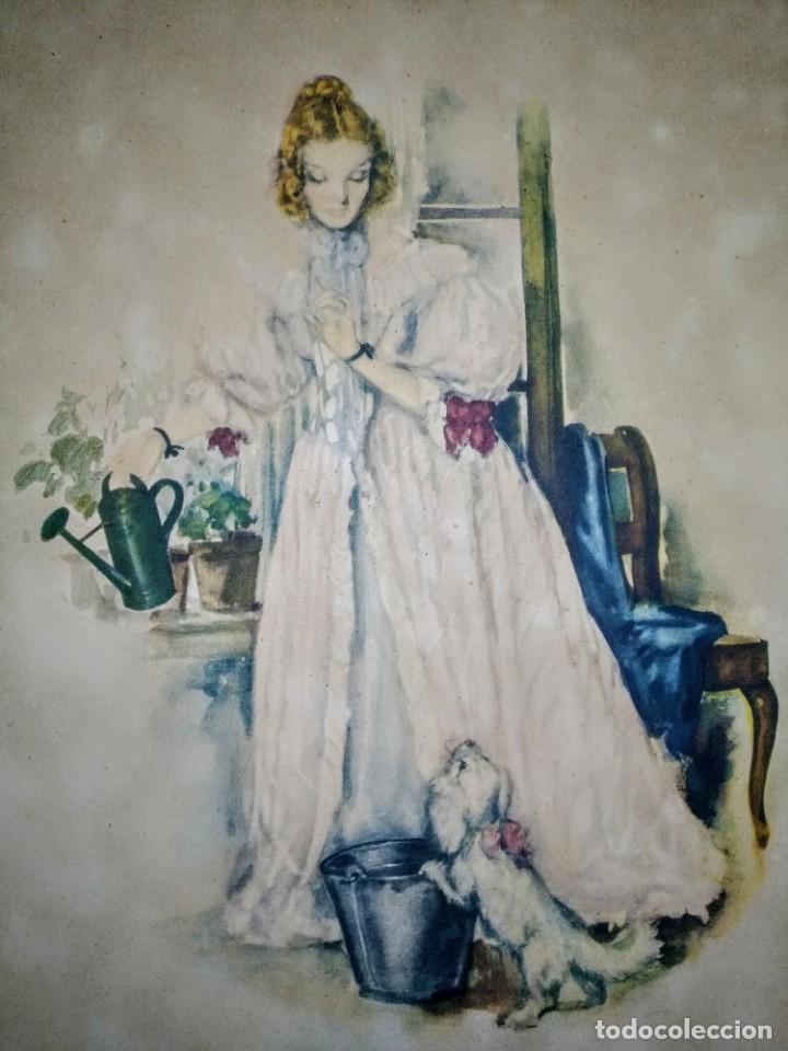 ACUARELA O LITOGRAFÍA DEL SIGLO 19 (Arte - Acuarelas - Modernas siglo XIX)