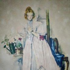 Arte: ACUARELA O LITOGRAFÍA DEL SIGLO 19. Lote 189252016