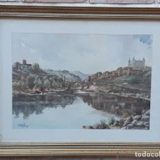 Arte: ACUARELA - VISTA DE TOLEDO - ALGUACIL 78.. Lote 189362227