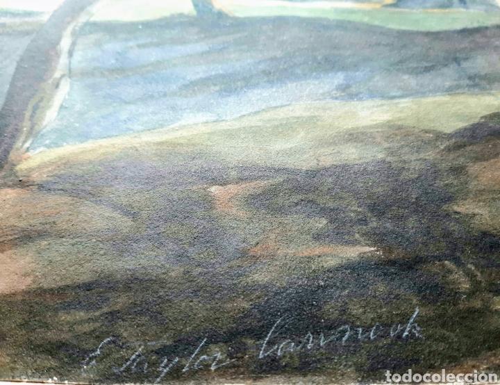 Arte: Acuarela firmada E.Taylor Larinock Escuela Inglesa . - Foto 2 - 189725896
