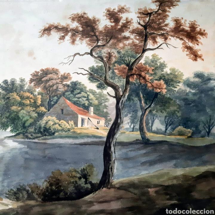 Arte: Acuarela firmada E.Taylor Larinock Escuela Inglesa . - Foto 3 - 189725896