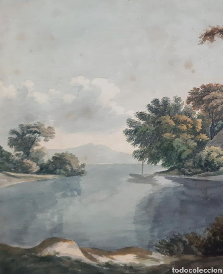 Arte: Acuarela firmada E.Taylor Larinock Escuela Inglesa . - Foto 4 - 189725896