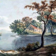 Arte: ACUARELA FIRMADA E.TAYLOR LARINOCK ESCUELA INGLESA .. Lote 189725896
