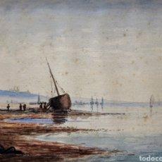 Arte: ACUARELA (ESCUELA INGLESA FIRMADA J.M.C.K.. Lote 189730712