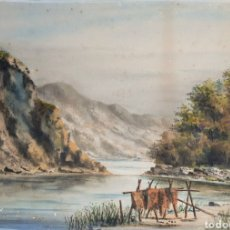 Art: ACUARELA (ESCUELA INGLESA ) .FIRMADA J.B.A.. Lote 189739625