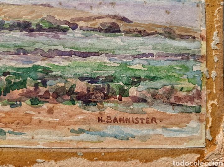 Arte: Acuarela firmada H.Bannister (Ecuela Inglesa ) Año 1896 - Foto 3 - 189816720