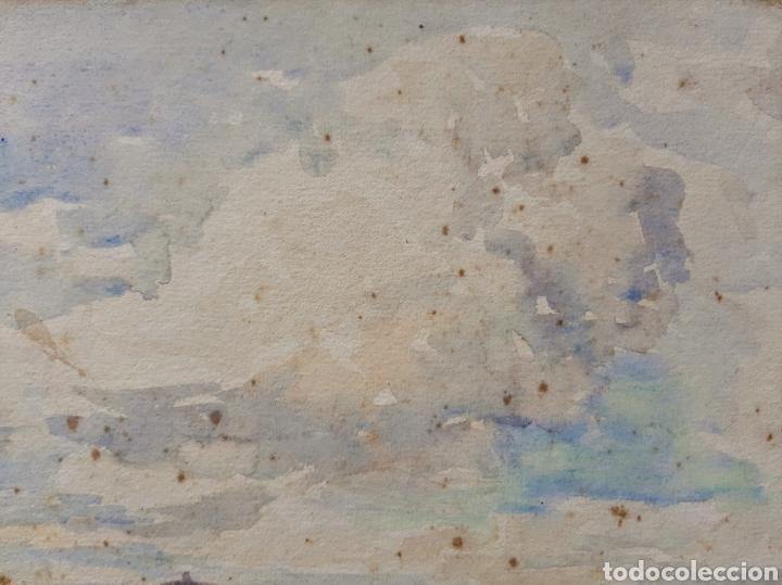 Arte: Acuarela firmada H.Bannister (Ecuela Inglesa ) Año 1896 - Foto 4 - 189816720