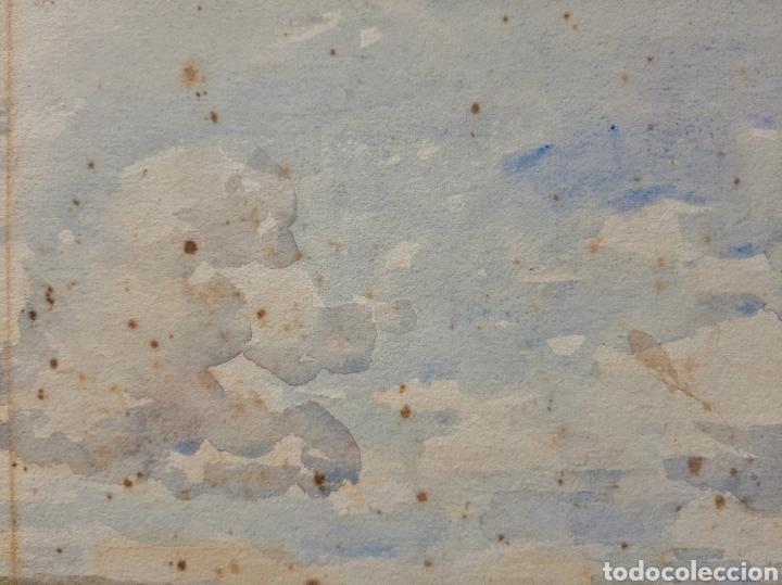 Arte: Acuarela firmada H.Bannister (Ecuela Inglesa ) Año 1896 - Foto 5 - 189816720