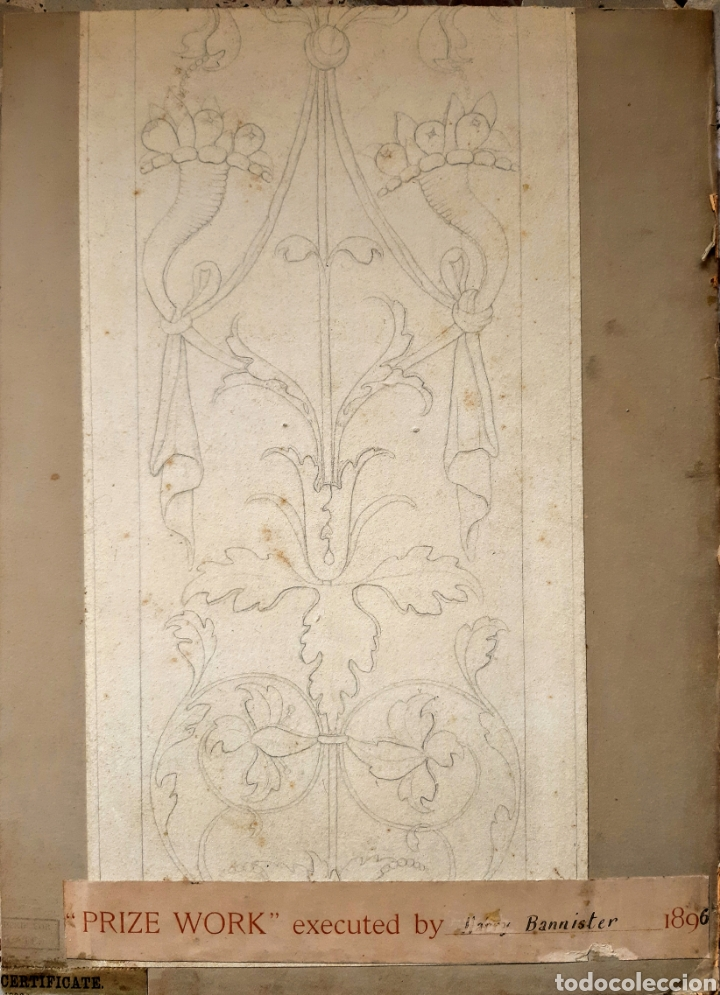 Arte: Acuarela firmada H.Bannister (Ecuela Inglesa ) Año 1896 - Foto 6 - 189816720