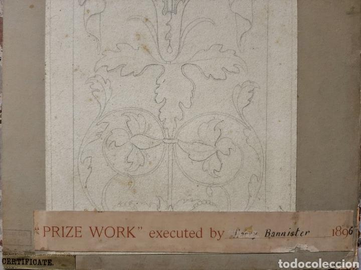Arte: Acuarela firmada H.Bannister (Ecuela Inglesa ) Año 1896 - Foto 7 - 189816720
