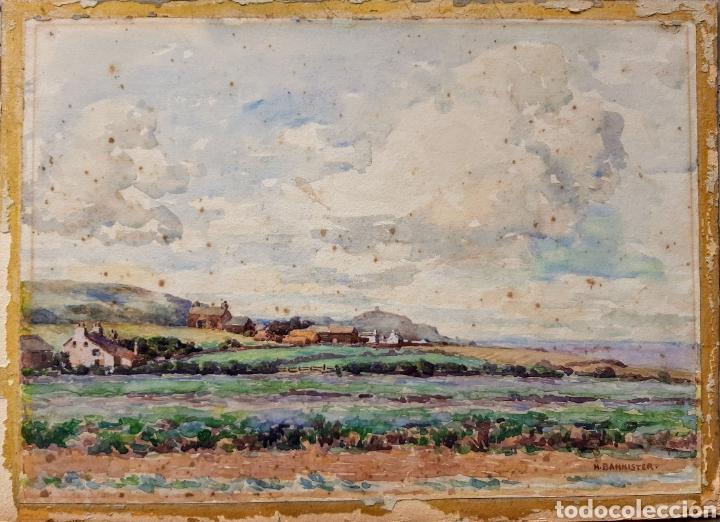 ACUARELA FIRMADA H.BANNISTER (ECUELA INGLESA ) AÑO 1896 (Arte - Acuarelas - Modernas siglo XIX)