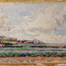 Arte: ACUARELA FIRMADA H.BANNISTER (ECUELA INGLESA ) AÑO 1896. Lote 189816720