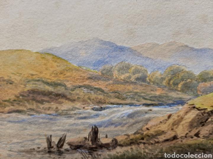 Arte: Acuarela firmada Weston ?? .(Ecuela Inglesa ) - Foto 2 - 189819563
