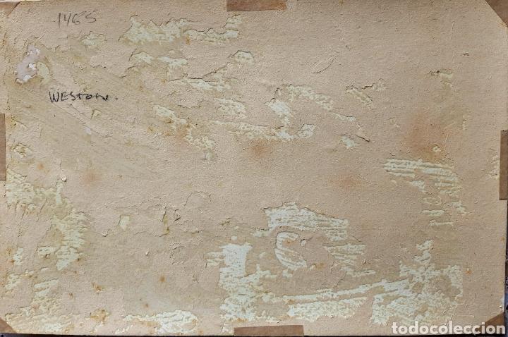Arte: Acuarela firmada Weston ?? .(Ecuela Inglesa ) - Foto 3 - 189819563