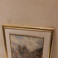 Arte: PRECIOSA ACUARELA CON FIRMA A IDENTIFICAR. Lote 189839988