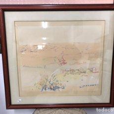 Arte: ACUARELA FIRMADA POR EDUARD ARROYO. Lote 190206238