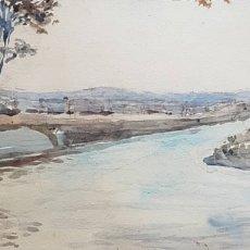Arte: PIERRE ALDOLPHE VALETTE (FRANCIA, 1876-1942) - PAISAJE COSTERO.FIRMADA.TITULADA.1911.. Lote 189888608