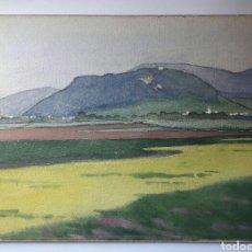 Arte: FANTÁSTICA ACUARELA SUIZA SIN FIRMAR DE PRINCIPIOS DEL SIGLO XX.. Lote 190443786
