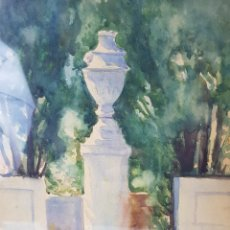 Arte: ENTRADA A JARDIN NOBLE POR ANDRÉS LARRAGA MONTANER (1861-1931). Lote 190625336