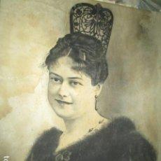 Arte: ANTIGUO DIBUJO DAMA CON PEINETA FIRMADO ILEGIBLE EXCELENTE TECNICA 1925. Lote 101252035