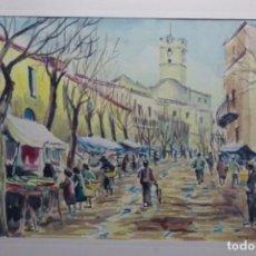 Arte: ACUARELA DE MOLLET DEL VALLES EN 1926.JAUME XICOLA 72.. Lote 190779080