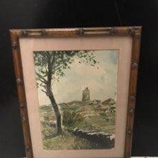 Arte: ACUARELA PINTOR GALLEGO FRANCISCO DOTRAS. Lote 190991255