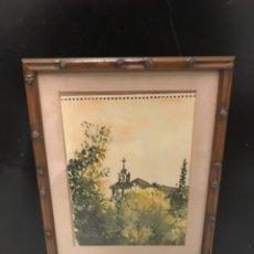 Arte: ACUARELA PINTOR GALLEGO FRANCISCO DOTRAS. Lote 190991443