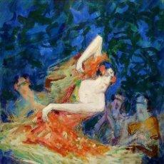 Arte: BAILAORA. ACUARELA SOBRE PAPEL. FIRMADO P (PERE) YSERN ALIÉ. ESPAÑA. XIX-XX. Lote 191063963