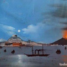 Arte: NÁPOLES DESDE EL MAR. ACUARELA O GOUACHE SOBRE PAPEL. ITALIA. SIGLO XIX. Lote 191069560